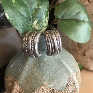 Judith Ripka half hoop earrings